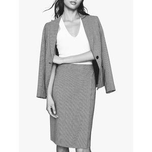 Reiss Romy Wool blended texture skirt